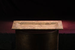 Travertine Rose' Tray