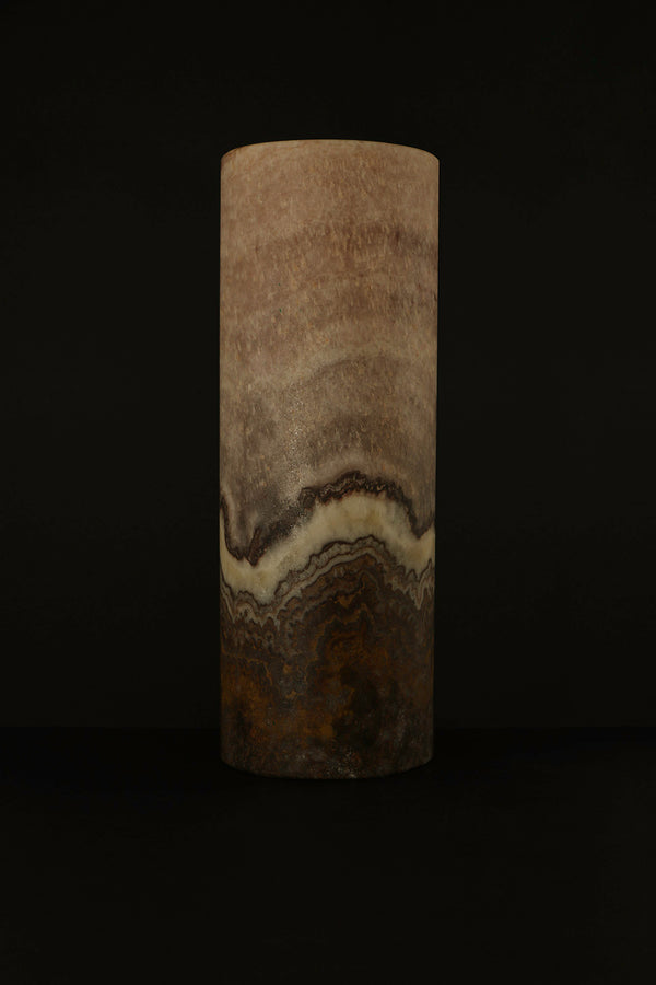 Rosé Cylindrical Table Lamp