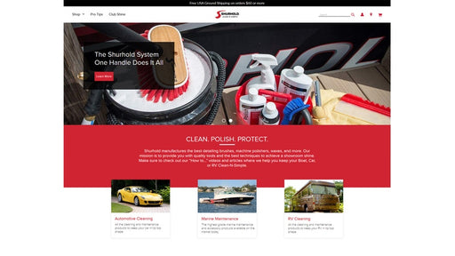 Shurhold Unveils Redesigned Website