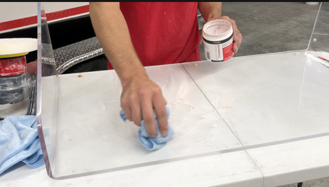 Applying Buff Magic to Windshield