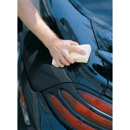 Shurhold PVA Sponge being used to dry car