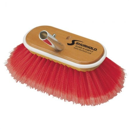 SKU #965 Shurhold 6 inch Red Combo Deck Brush