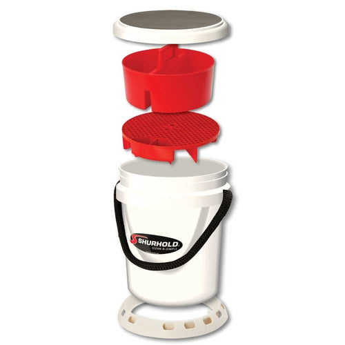 SKU #2465 Shurhold White Ultimate One Bucket System