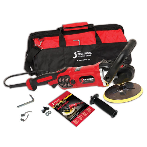 SKU #3400 Shurhold Pro Rotary Polisher with accessories