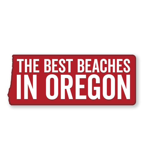 "The Best Beaches in Oregon 6"" Weatherproof Sticker"