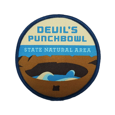 "Devil's Punchbowl State Natural Area 3"" Iron-on Patch"