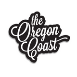 "Official ""The Oregon Coast"" 4-inch Script Waterproof Sticker (3 color options)"