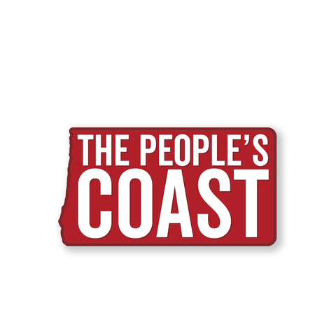 "The People's Coast 6"" Weatherproof Sticker"
