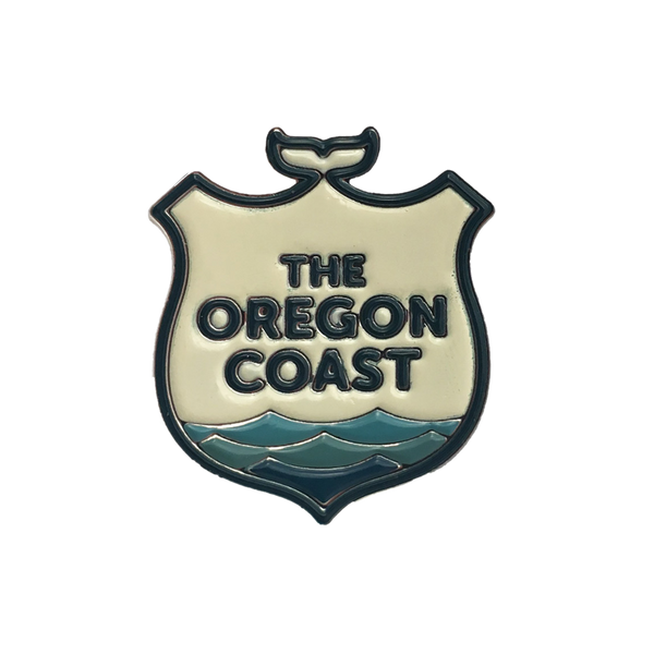 Official Oregon Coast Logo Enamel Pin