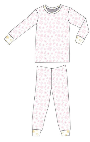 Organic Cotton Pajamas - Pink Bandana and Sunshine Star