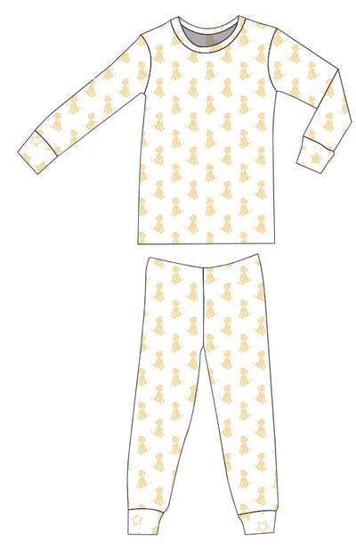 Organic Cotton Pajamas - Sunlight Dogs with Sunlight Stars