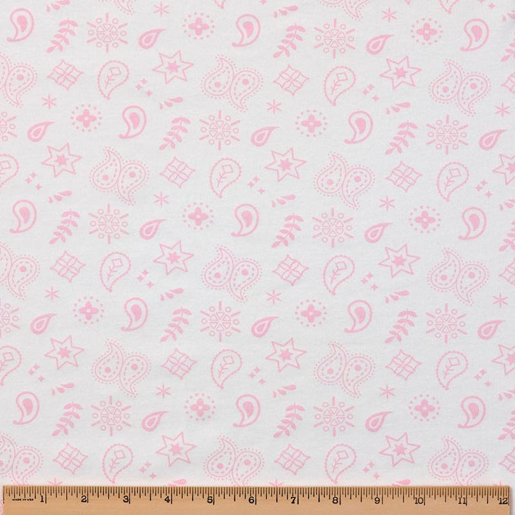 Reversible Organic Cotton Round Blanket - Pink Bandana with Sunlight Star