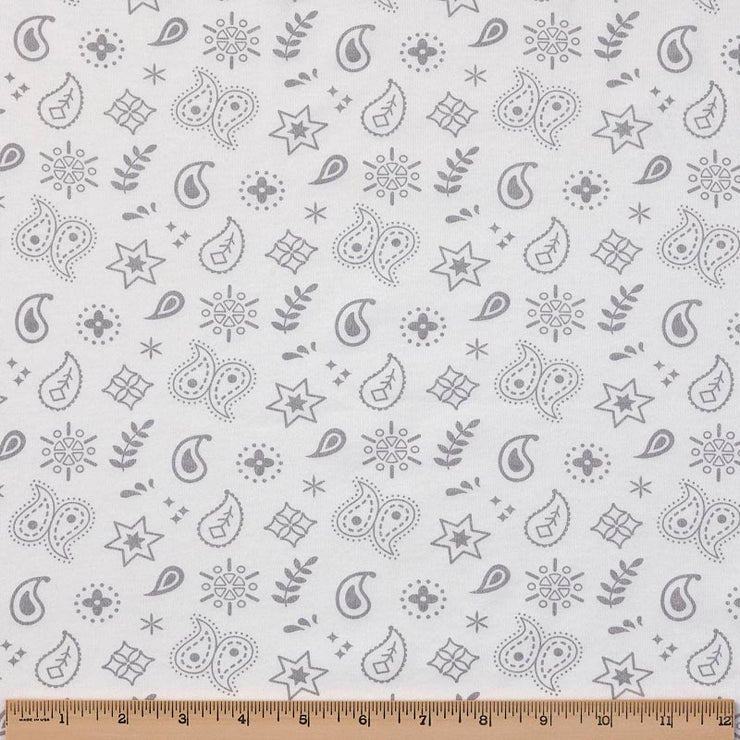 Reversible Organic Cotton Dog Crate Pad - Silver Grey Dogs with Silver Grey Bandana