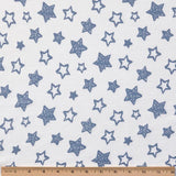 Organic Cotton Pajamas - Denim Blue Stars with Pink Bandana