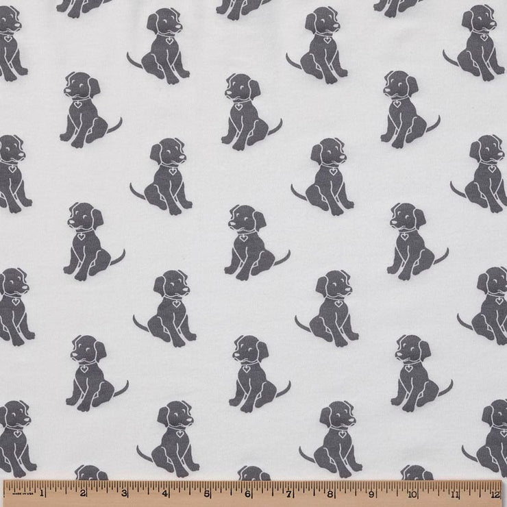 Organic Cotton Pajamas - Silver Grey Dogs with Silver Grey Bandana