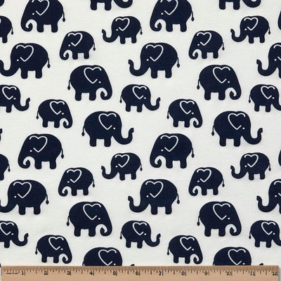 Navy Ellies by the Yard