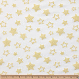 Reversible Organic Cotton Burp Cloth - Dark Cheddar Giraffes with Sunshine Stars