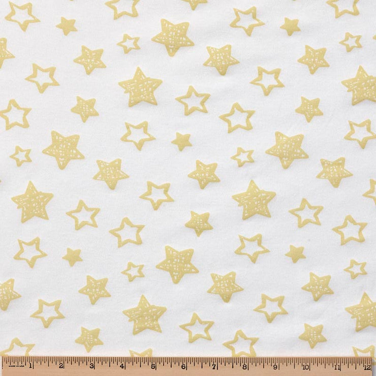 Reversible Organic Cotton Dog Crate Pad - Dark Cheddar Giraffes with Sunlight Stars