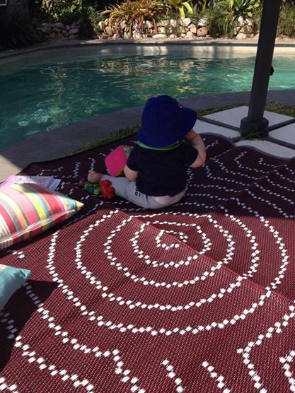 Mat - Aboriginal Design Recycled - Water Dreaming