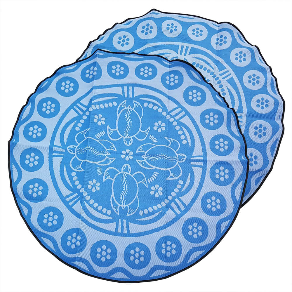 Mat - Aboriginal Design Recycled - Turtle Season