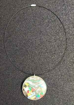 Necklace - Plastic in Resin