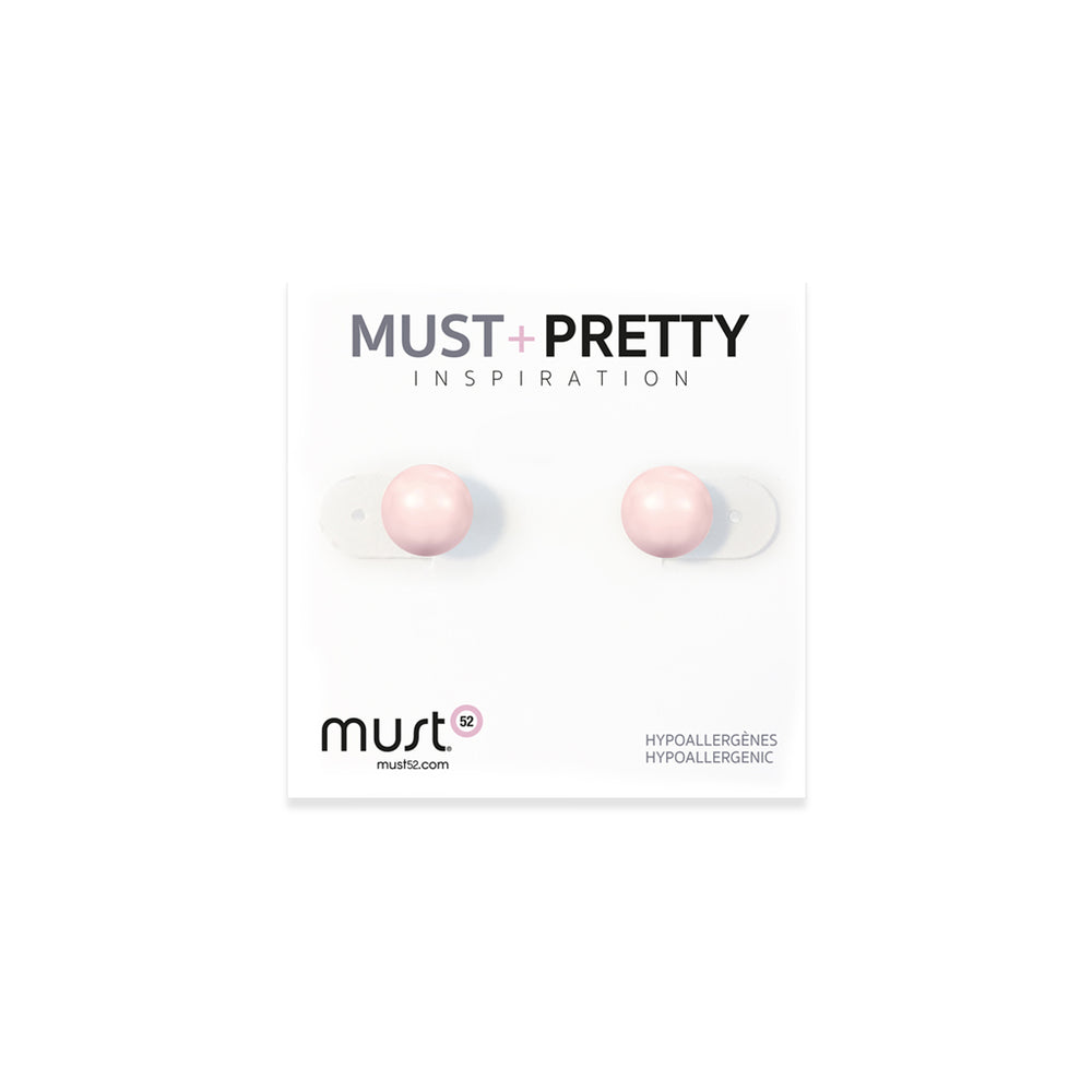 Must+Pretty Pink Pearl Earring Set