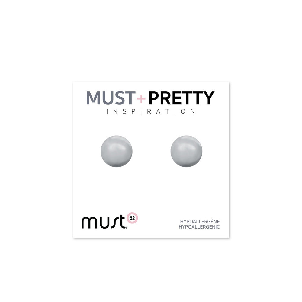 Must+Pretty Grey Pearl Earring Set