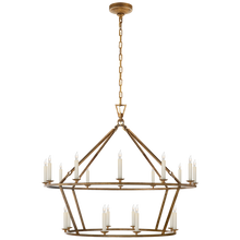 Load image into Gallery viewer, Darlana Two-Tiered Ring Chandelier