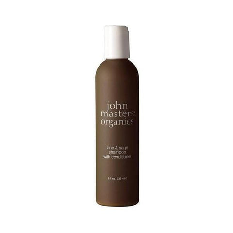 2-in-1 Shampoo and Conditioner Zinc & Sage John Masters Organics (236ml) - Beautyshop.ie