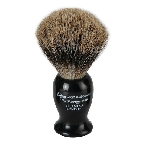 Taylor of Old Bond Street Black Pure Badger Shaving Brush (Medium) - Beautyshop.se