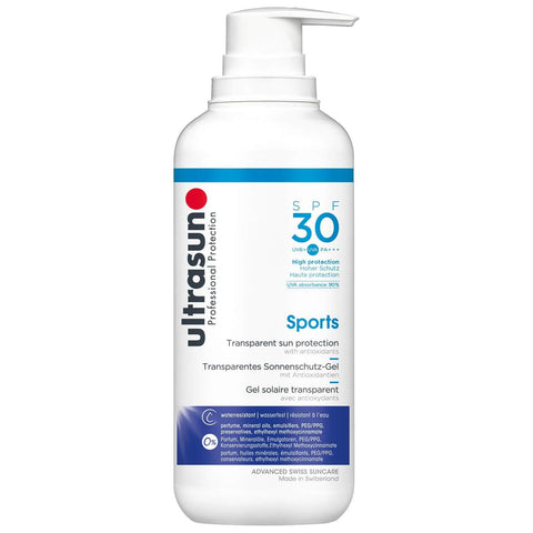 """Ultrasun Transparent Sun Protection Sports Gel SPF30 400ml"" - Beautyshop.lt"