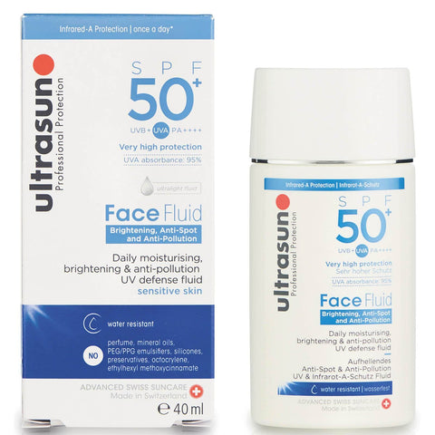 Ultrasun SPF 50+ Fluid facial anti-poluare 40ml