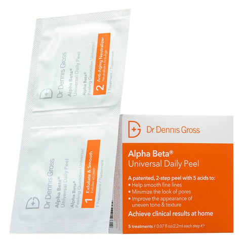 Универсальный ежедневный пилинг Dr Dennis Gross Skincare Alpha Beta Universal Daily Peel (набор из 5) - Beautyshop.ie