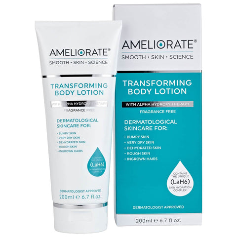 AMELIORATE Transforming Body Lotion Fragrance Free 200ml - Beautyshop.lt