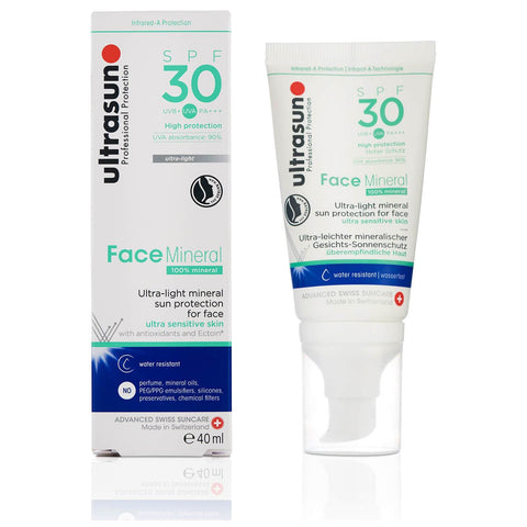 Ultrasun Mineral Face SPF30 losjonas 40ml