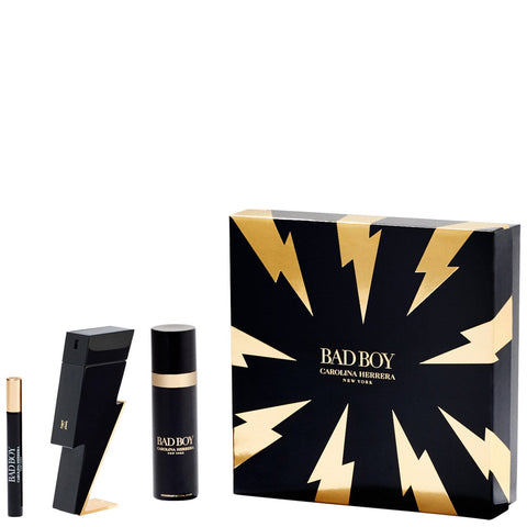 Carolina Herrera Christmas 2020 Bad Boy Eau de Toilette Spray 50ml Gift Set - Beautyshop.ie
