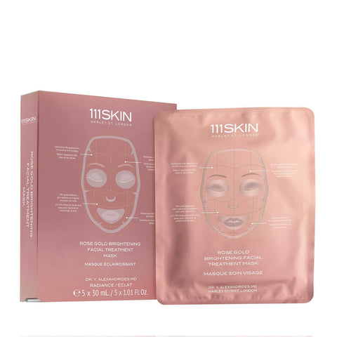 111SKIN Rose Gold Brightening Facial Treatment Mask Box - Beautyshop.ie