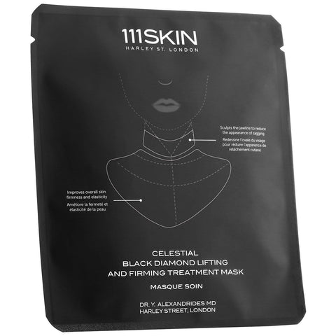 111SKIN Celestial Black Diamond Lifting and Firming Mask Neck Single 43ml - Beautyshop.lv