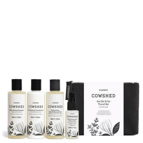Set de viaje Get Set and Go Travel de edición limitada de Cowshed Summer - Beautyshop.es
