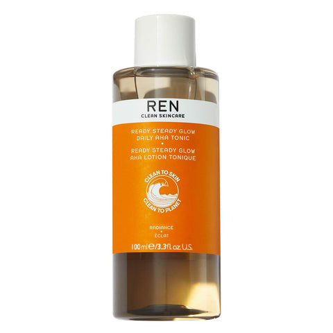 REN Clean Cleancare Ready Steady Glow Daily AHA Tonic 100ml - Beautyshop.ie