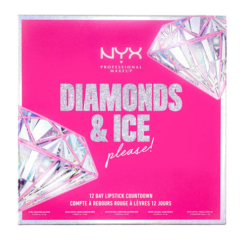 NYX Professional Makeup Diamonds and Ice Please 12 Day Lipstick Calendrier de l'Avent Compte à rebours de Noël