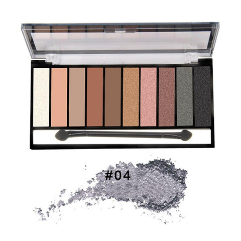 Eyeshadow Palette Waterproof Powder Matte Metallic 10 Colors - Beautyshop.ie