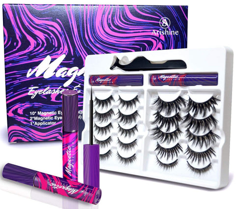 Arishine 3D 5D Magnetic Eyelashes Kit - Beautyshop.ie