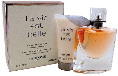 Lancome La Vie Est Belle L'Eau de Parfum Gift Set 50ml Spray + 50ml Body Lotion