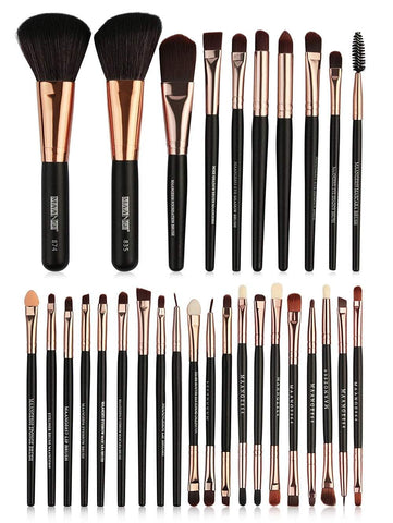 Professional 22 Pcs Ultra Soft Fiber Hair Cosmetic Brush Collection