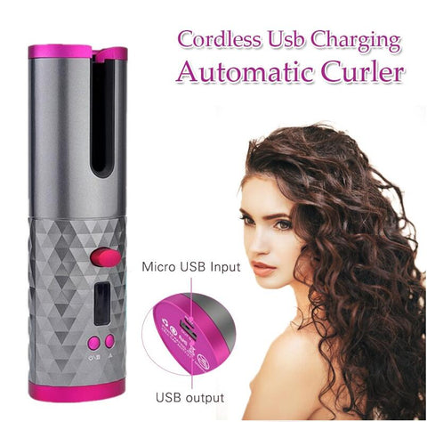 Världens första WIRELESS AUTOMATED Curling Iron - Beautyshop.ie