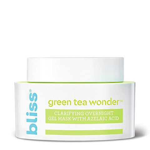 Bliss Green Tea Wonder Clarifying Overnight gelio kaukė su azelaino rūgštimi - 50ml - Beautyshop.lt