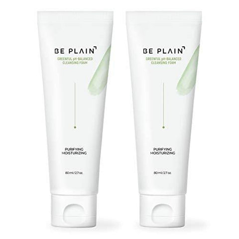 BE PLAIN Greenful pH-Balanced Cleansing Foam 80ml (2 Pack)