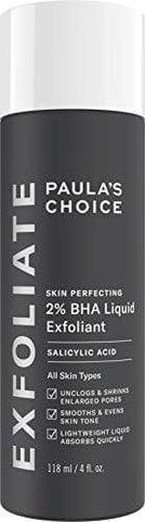 Perfecționarea pielii Paula's Choice 2% BHA Exfoliant lichid | 118ml - Beautyshop.ie