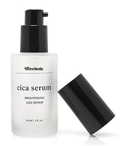 Meebak Cica Face Serum 30ml with Hyaluronic Acid and Natural Ingredients,